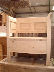 Solid Panelled Back Dutch Bench 3ft