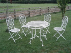 Wire patio set