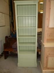 Painted Bookcase with Two Draws