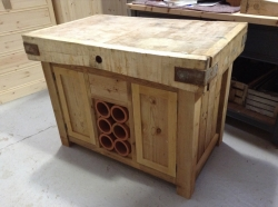 double sided island unit butchers block SOLD