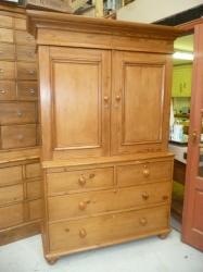 Victorian linen press / food cupboard - SOLD