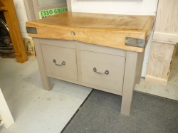 Butchers Block with 2 Large Pan Drawers - SOLD