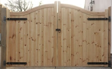 Timber Sandringham style gates