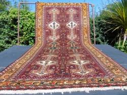 Qashqai.  long wide runner. 297 x 152.cm.  9' 10 x 5'