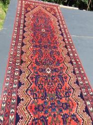 A long persian handknotted runner. 510 x 110 cm  16' 10 x 7'