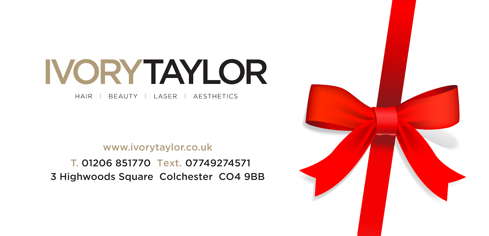 Ivory Taylor red ribbon logo