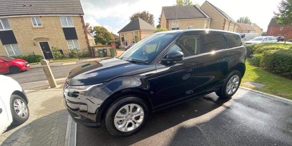 Clean Dark Blue Range Rover