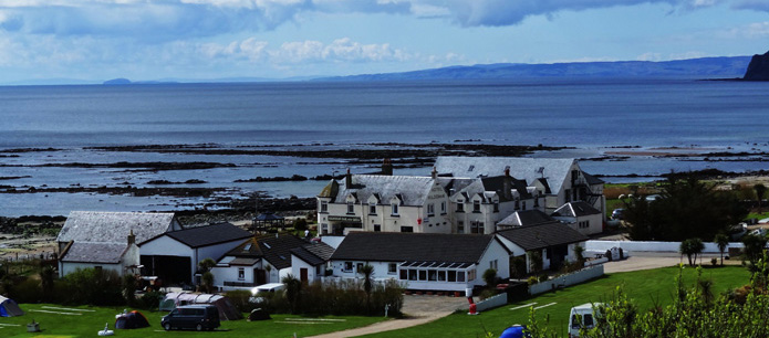 Sky view of the Kildonan with the sea in the background