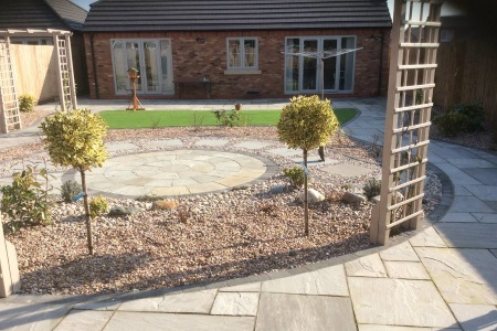 Newly Designed Garden Landscape
