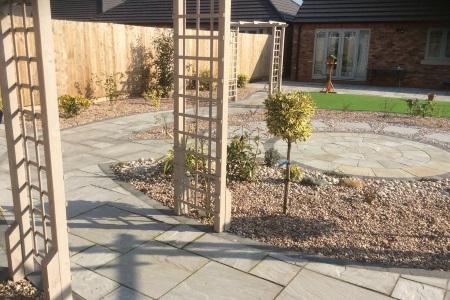 Recently redesigned garden landscape