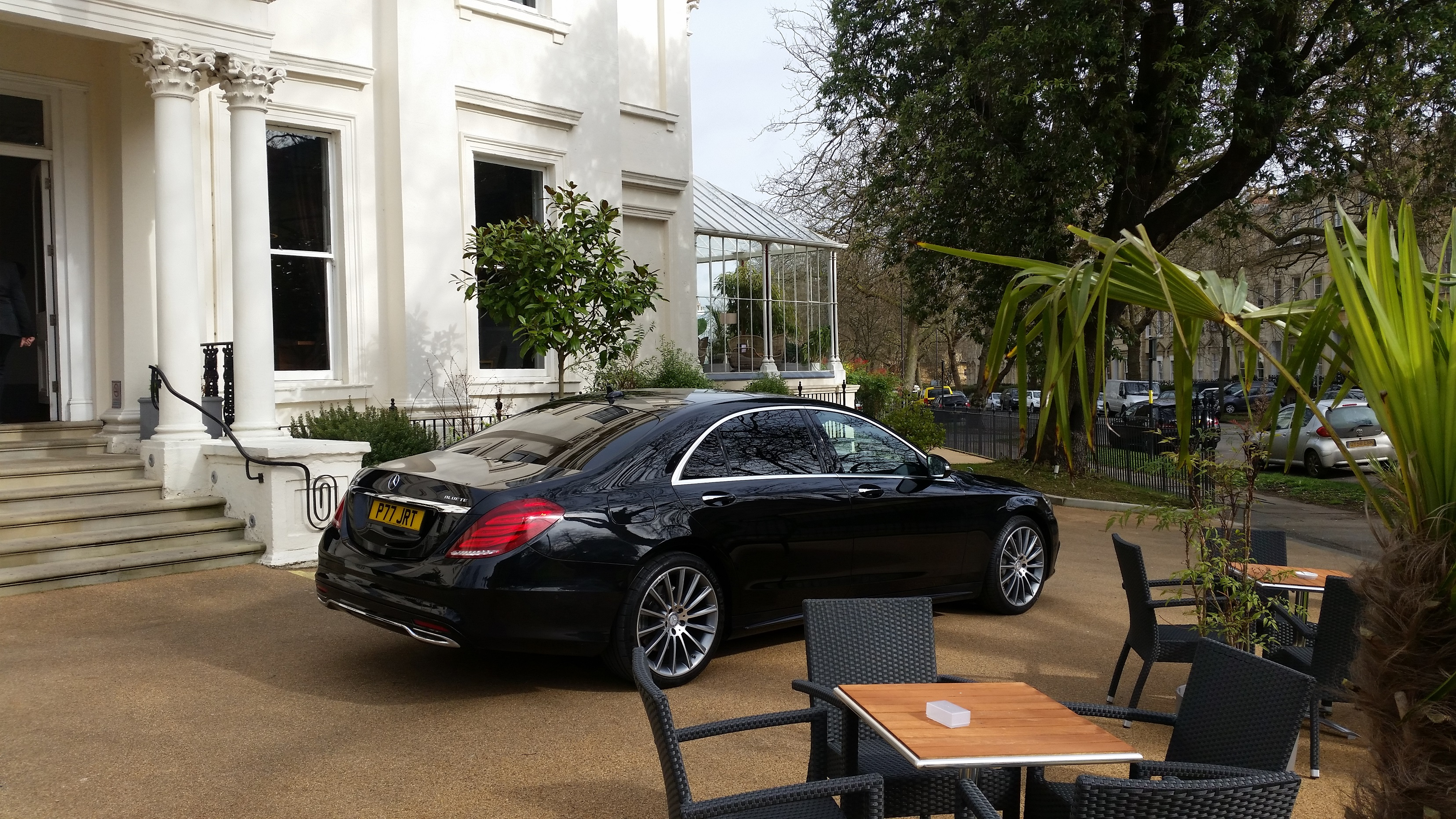 Chauffeur waiting to pick up client