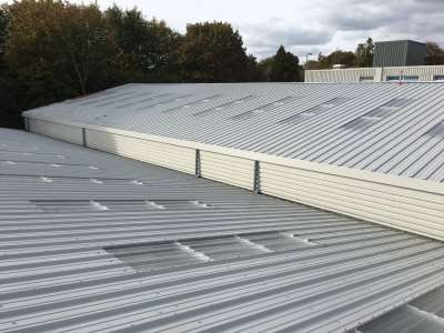 New industrial roofing