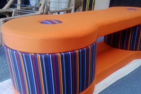 Recently re-upholstered furniture
