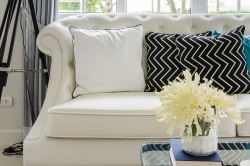 Sofa with Stylish Cushions