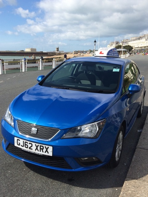 Blue Learners Seat Ibiza front left