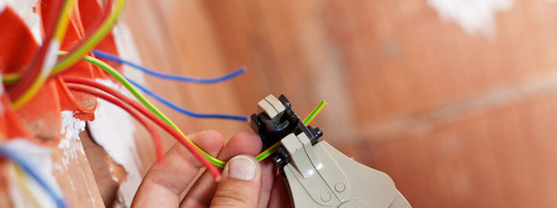 Snipping wires to prepare for installation