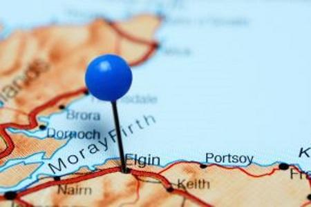 Map of Elgin in Moray