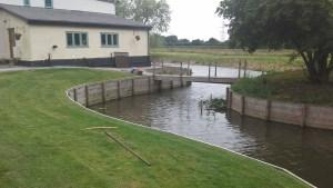 Custom Moat created around homeowner's land
