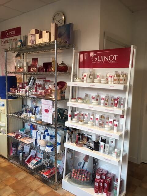 Guinot Stand inside shop