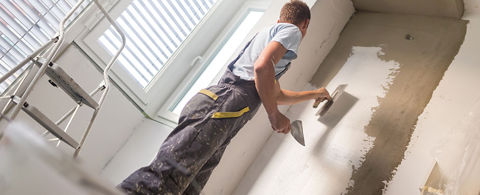 Plastering services for home or commercial projects