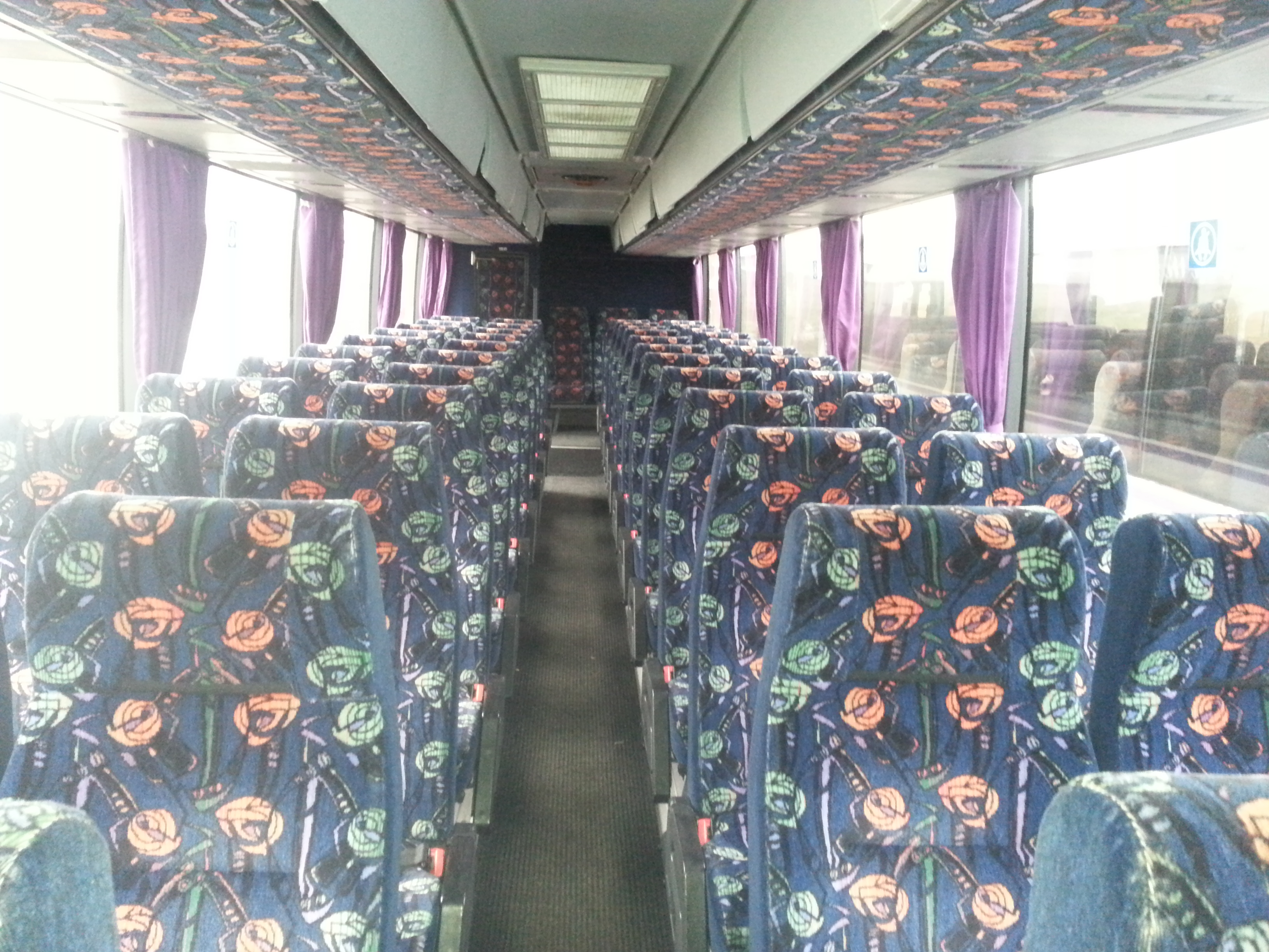 A sunbeam coach interior