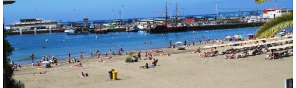One of three lovely beaches in Los Cristianos