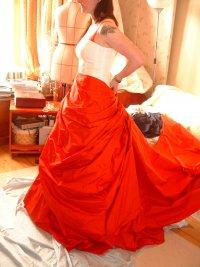 Bespoke red wedding dress