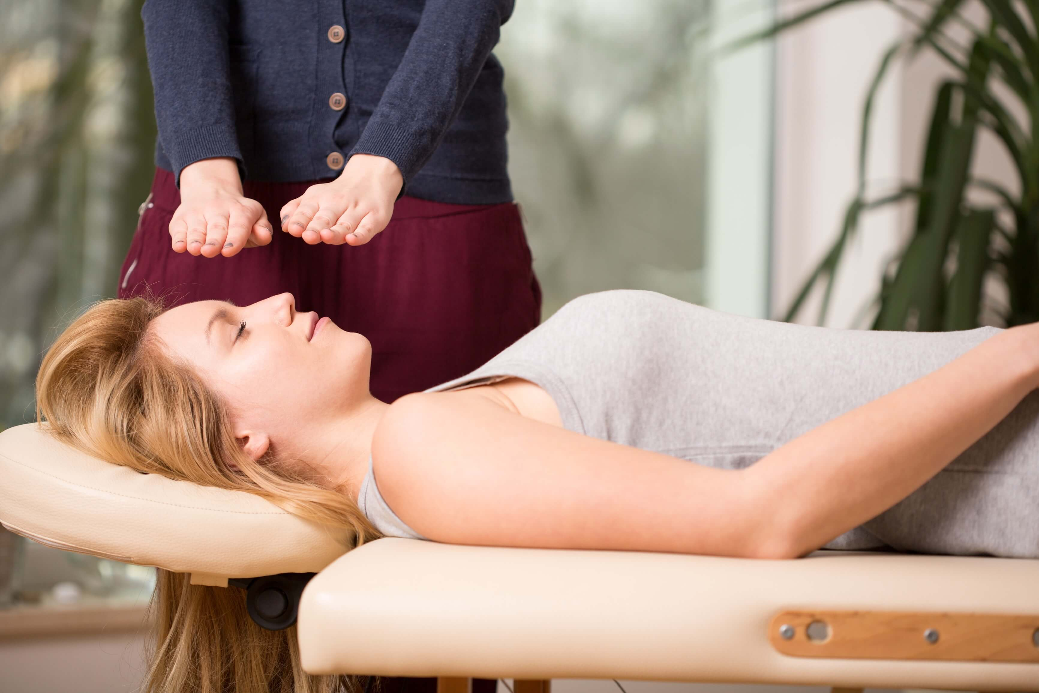 Patient Receiving Reiki Treatments