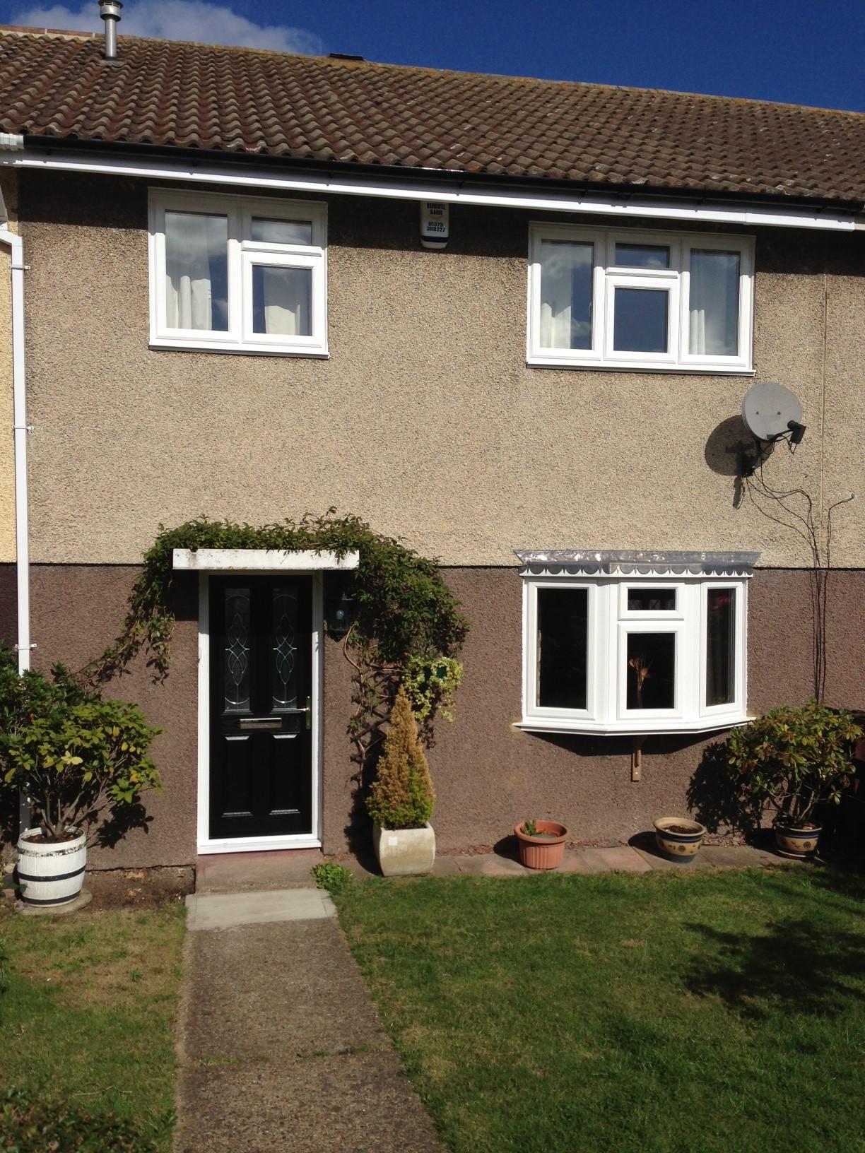 New windows and door on terrace house