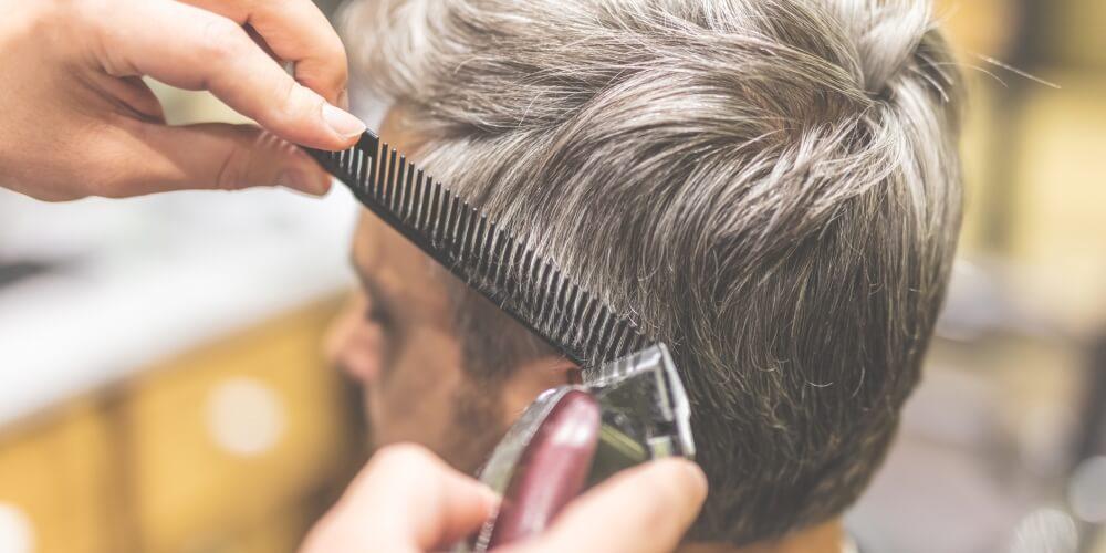 Cutting a Mans Hair