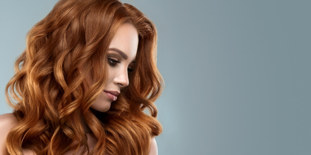A Woman with a Freshly Style Ginger Hair
