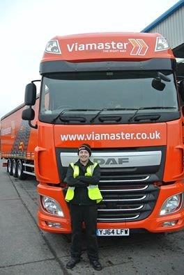 Young driver who passed LGV C with Viamaster Training