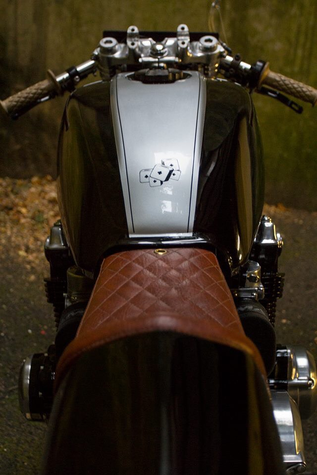 brown leather motorbike seat