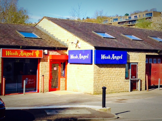 front of Wash Angel shop