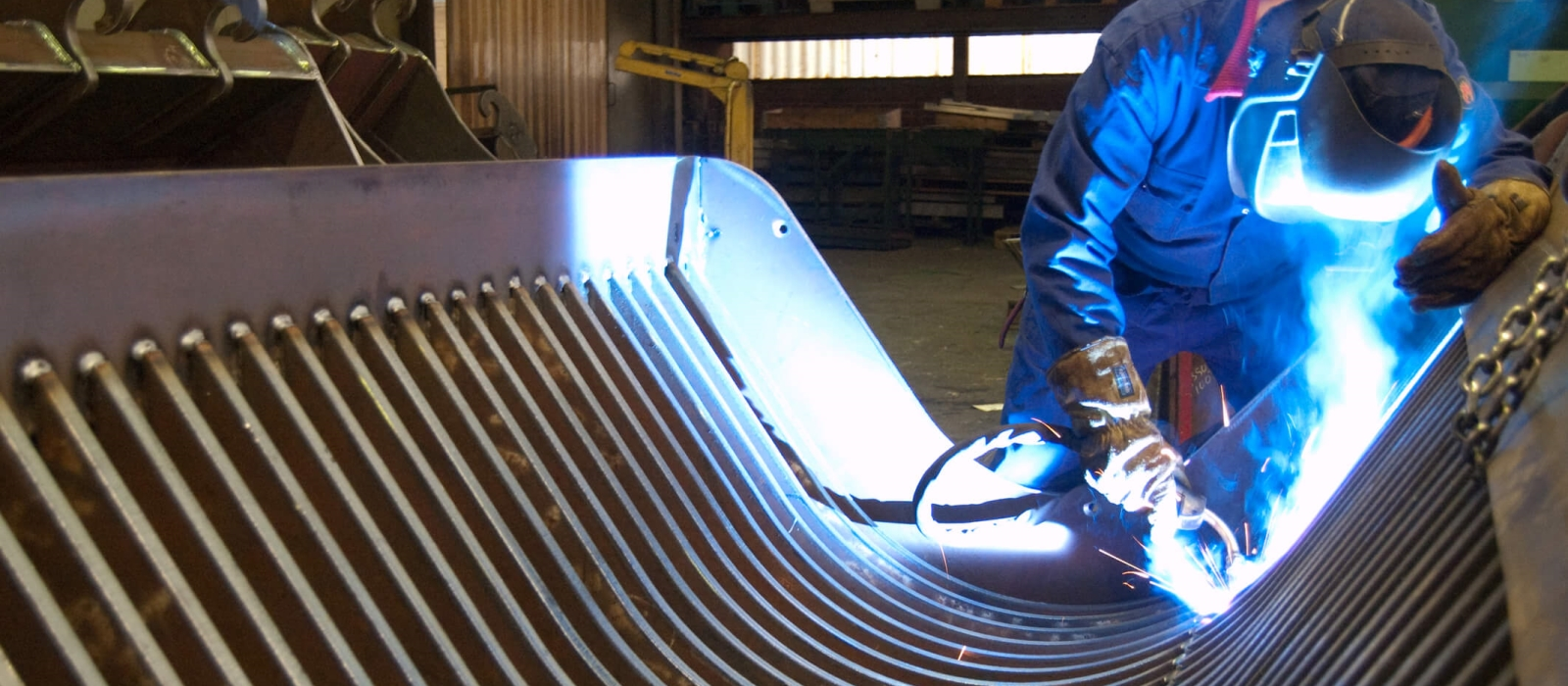 Professionally Welding Metal Together