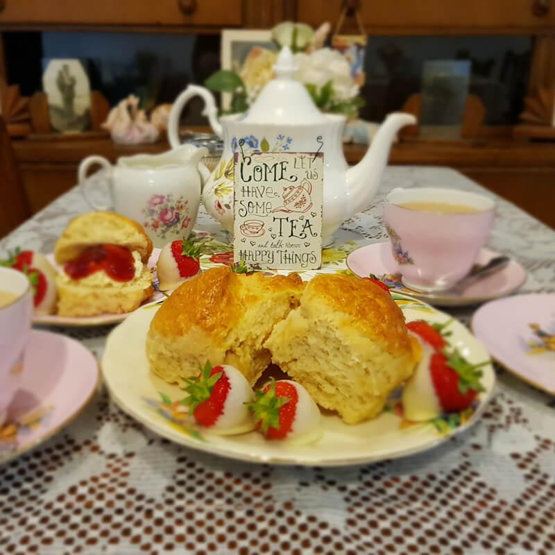 Tea and Cake in Tea Room