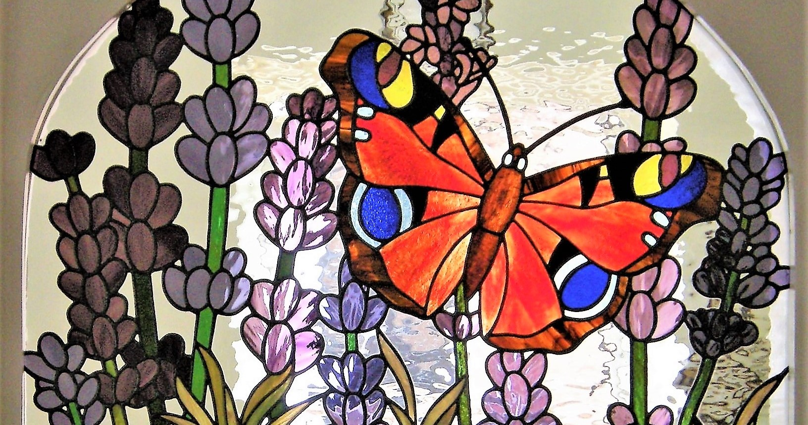 Butterfly and Lavender Panel