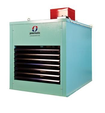 a large white industrial heater